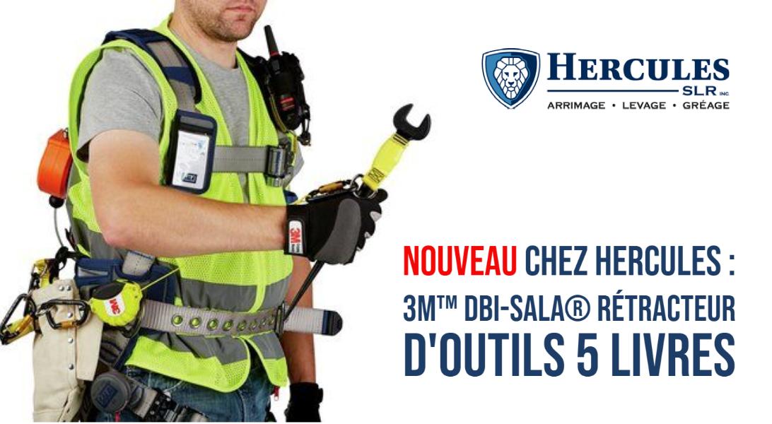 NOUVEAU Chez Hercules : 3M™ DBI-SALA® Rétracteur d'Outils 5 livres