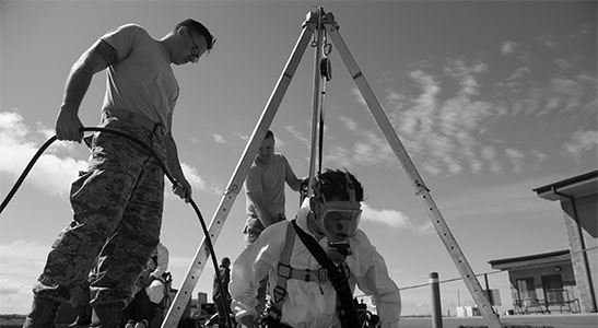 confined space, hercules slr, how to work in confined spaces