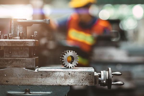 Gear in machine shop