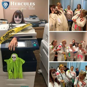 employees dressed up for Halloween at Hercules slr