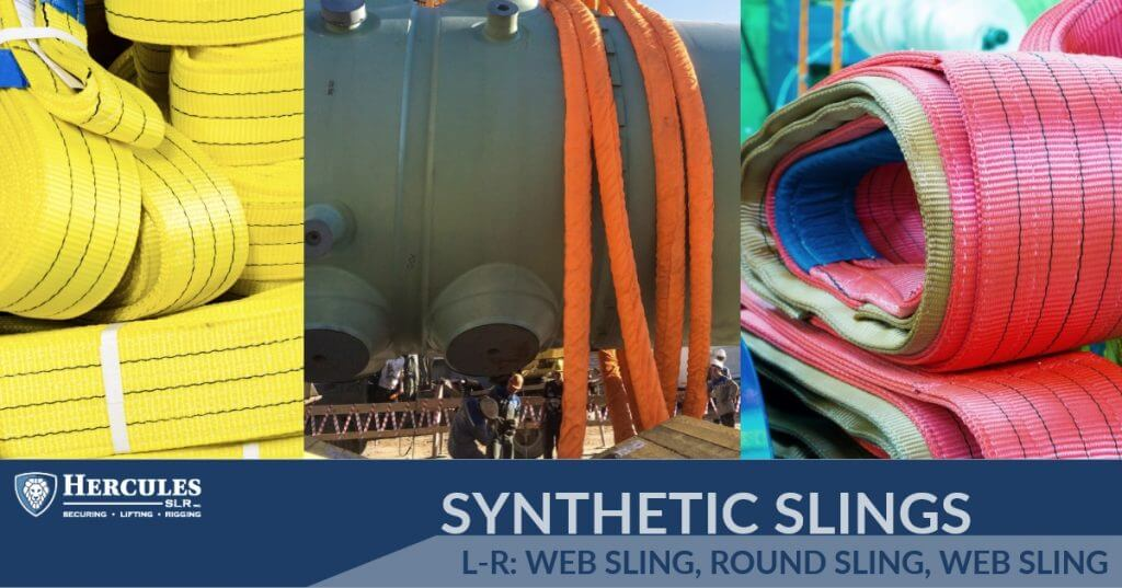rigging and lifting synthetic web slings and orange synthetic round sling
