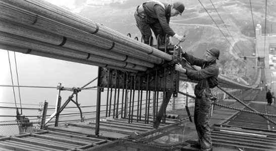Brooklyn bridge workers