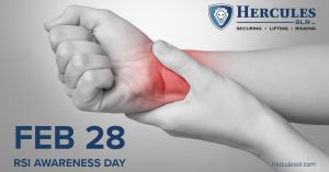 repetitive strain injury awareness day at herucles slr