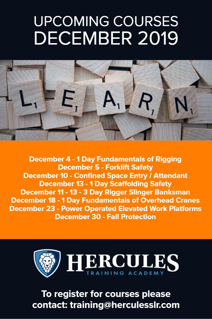 Training Courses December