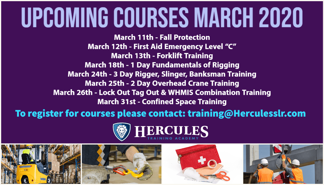 Training Courses March