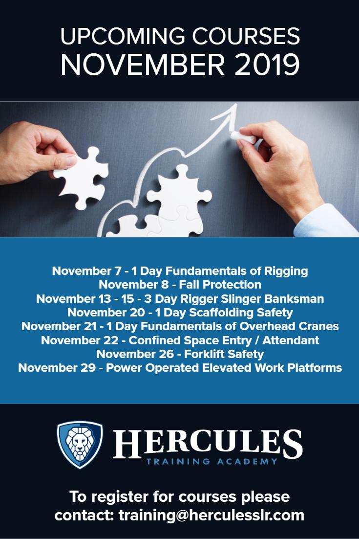 Training Courses November