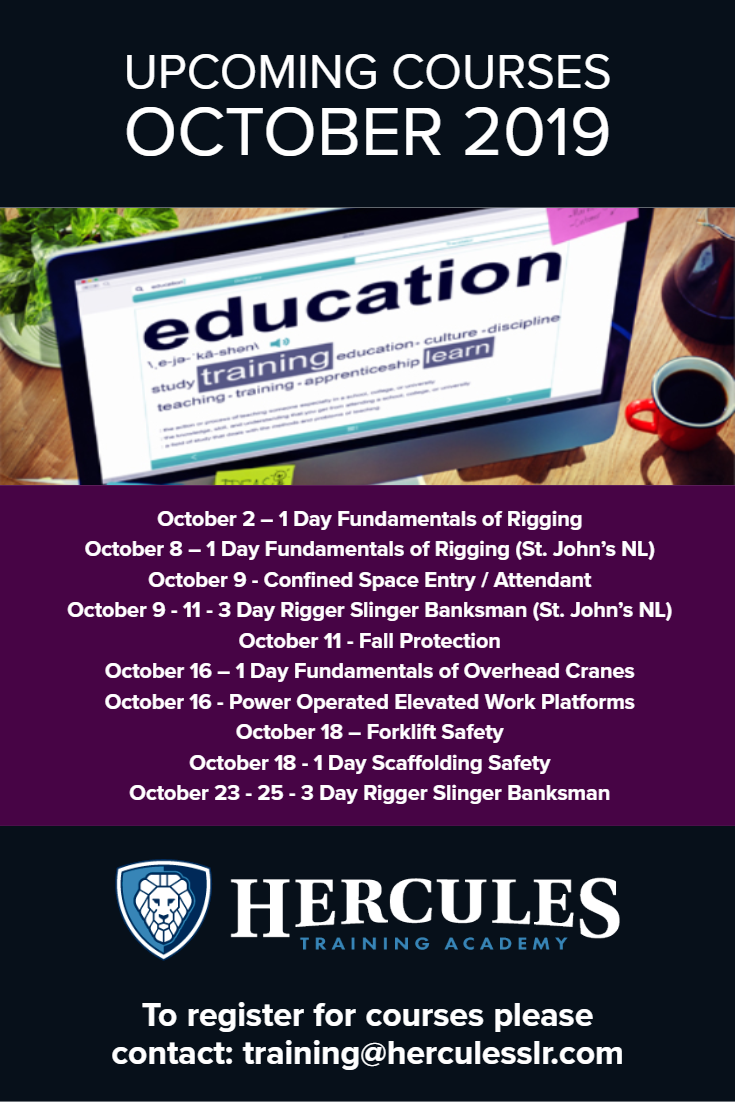 Training Courses October