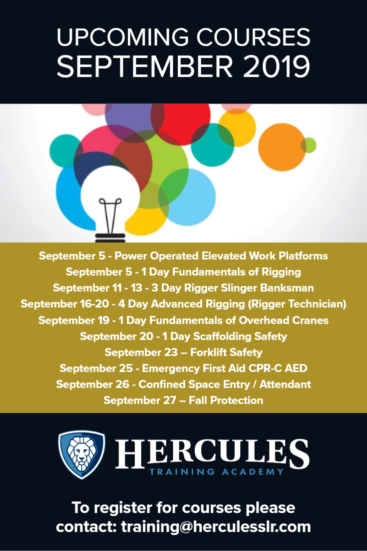 Training Courses September