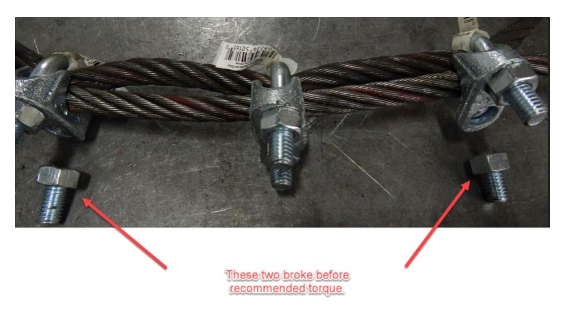 wire rope clips, hercules slr rigging services