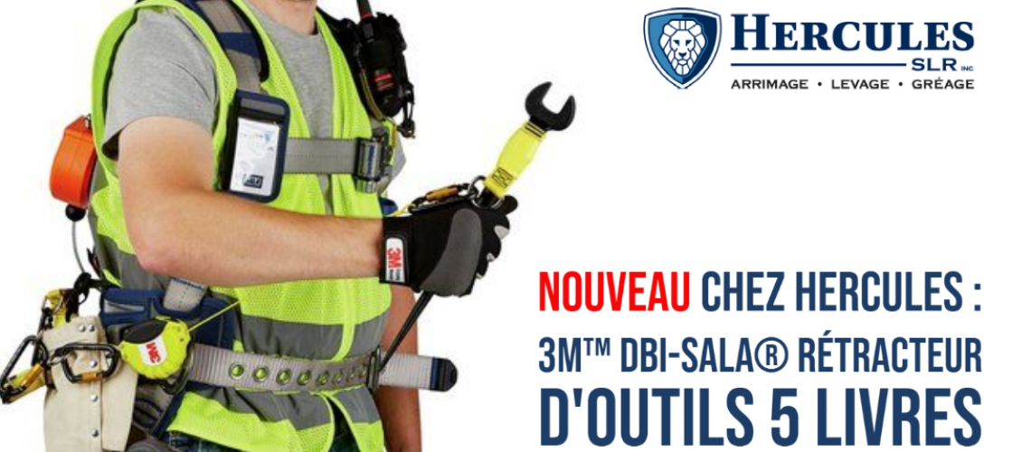 NEW at Hercules: 3M™ DBI-SALA® 5lb Tool Retractor