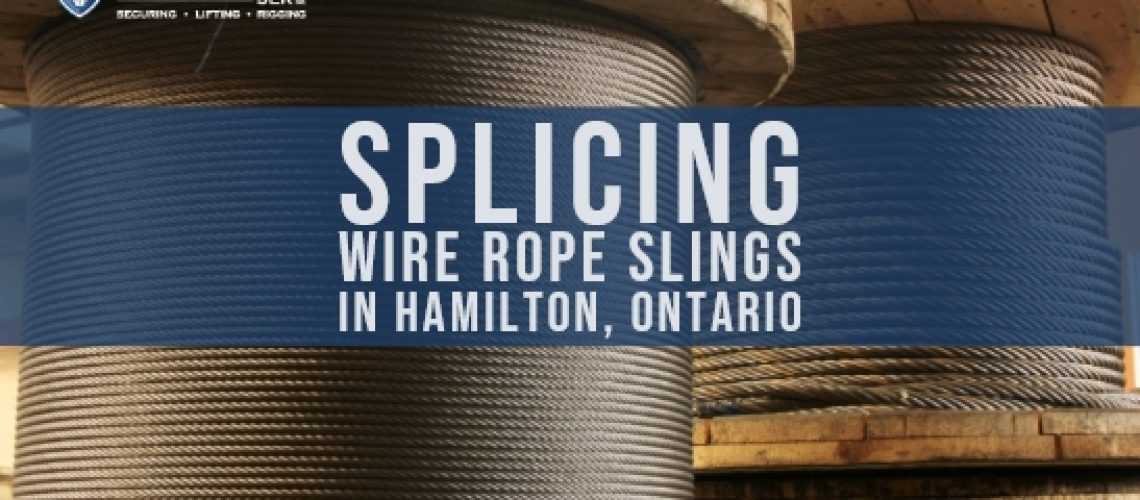 spools to make wire rope sling