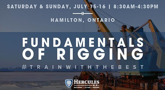 rigging training course in hamilton, ontario