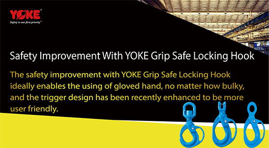 yoke grip safe locking hook x-95x series